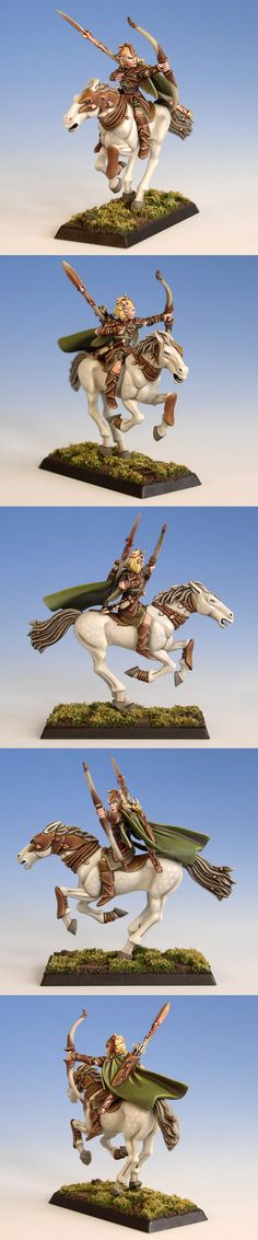 Wood Elf Glade Rider, dappled horse
