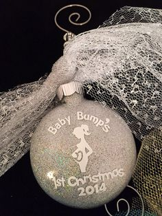 Pregnant Christmas Ornament Baby Bump Ornament by IttyBittyWedding