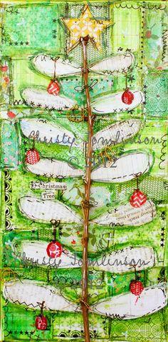 Mixed Media Christmas Tree   Oh Christmas Tree Mixed Media Print by Christy Tomlinson   Christmas