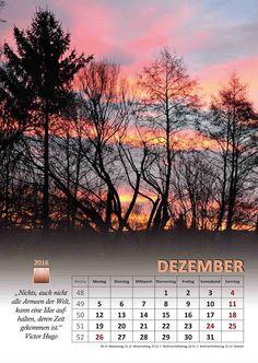 Selbstgemachtes und Kreatives: Kalenderblatt Dezember 2016