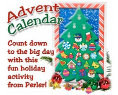 Get the family together to create this fun Advent Calendar! You can count down the days to Christmas by adding an ornament to the tree each day. 25 EASY designs make it VERY kid-friendly! We even include a downloadable tree!