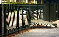 weird bench fence