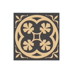 Olde English Square Fully Encaustic Tile in Black and Cognac - Walls & Floors from Period Property Store UK Floor Patterns, Tile Patterns, Victorian Style Homes, Victorian House, Exterior Tiles, Garden Tiles, English Decor, Unique Flooring, Geometric Tiles