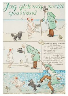 View Jag gick mig ner till sjöastrand By Elsa Beskow; Access more artwork lots and estimated & realized auction prices on MutualArt. Elsa Beskow, Learn Swedish, Vintage Book Art, Scandinavian Art, 3 Arts, Typography Prints, Children's Book Illustration, Childrens Books, Fairy Tales