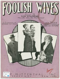 Song inspired by Foolish Wives (1922)