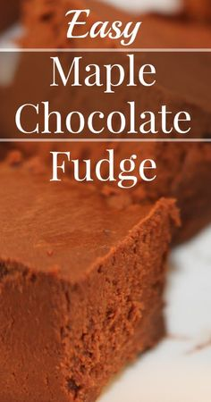 Maple Chocolate Fudge Refined sugar free, Gluten free, Real Food, Primal {Substitutions for Vegan, Paleo and Dairy free! Paleo Dessert, Healthy Sweets, Gluten Free Desserts, Just Desserts, Delicious Desserts, Dessert Recipes, Fudge Recipes, Whole Food Recipes, Cooking Recipes