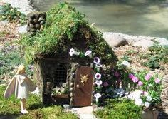 Fairy Cottage,make this summer for Morgan, with her help