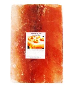 Nature-Hewn Cooking Slab of Himalayan Salt. Cook on it.  Serve on it. Add the subtly of salt naturally to cold served salads or salt planked chicken on the grill. Bonus!  It lasts and lasts. And clean up is just a wipe away since salt is naturally antiseptic and anti-bacterial.