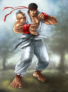 The master of Hado-ken is here. Ryu Street Fighter, Street Fights, Drawing Games, Super Smash Bros, Art Drawings, Fan Art, Deviantart, Illustration, Artist