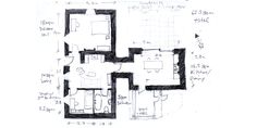 13001 GF 1 to 100a Old Cottage, Restoration, Floor Plans, Houses, Homes, House, Computer Case, Floor Plan Drawing, Home