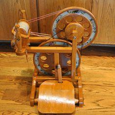 Betty Roberts spinning wheel.