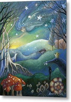 Mounted print titled 'Yule' by Amanda Clark - wheel of the year, winter art, crow art, fairytale art, mounted art print Art And Illustration, Yule, Clark Art, Photo D Art, Fairytale Art, Winter Art, Winter Solstice, Happy Solstice, Whimsical Art