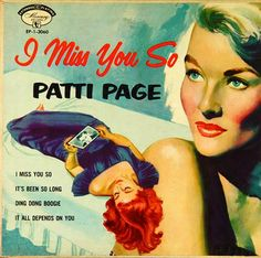 """Patti Page: I Miss You So Label: Mercury EP-1-3060 7"""" EP early 1950s"""