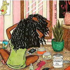 Hair Drawing Afro Ideas For 2019 Black Love Art, Black Girl Art, My Black Is Beautiful, Art Girl, Natural Hair Art, Natural Hair Styles, Natural Hair Black Girls, Grow Natural Hair Faster, Natural Hair Growth