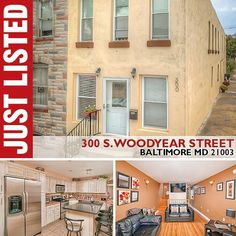 sale 300 WOODYEAR STREET SOUTH BALTIMORE MD 21003  JUST LISTED • Beautiful Rowhouse ...