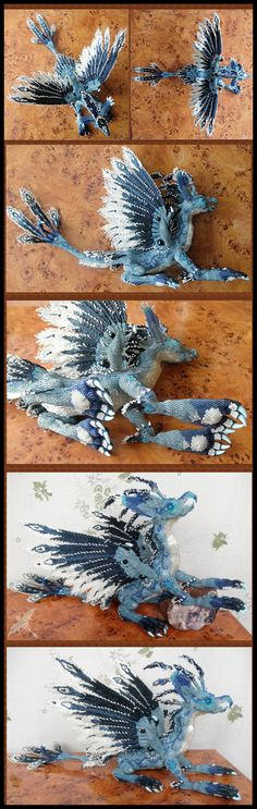 Beaded Dragon - WOW that's all I can say right now. It's Divine and my colours too <3