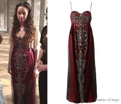 In one of upcoming episodes Lola is going to be seen in this vintage Reem Acra Beaded Evening Dress.