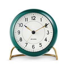 Arne Jacobsen Watches- Station Alarm Clock - Burgundy & Green