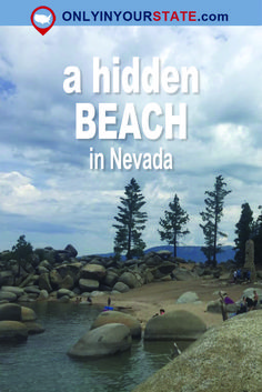 If you're looking to get away from the crowds, Chimney Beach is a lesser-known hidden beach on the Nevada side of Lake Tahoe. Tent Camping, Camping Hacks, Reno Nevada, Nevada Usa, California Places To Visit, Vacation Spots, Dream Vacations, Vacation Ideas, Virginia City