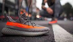 official photos 91e95 c4538 Originals Kanye West Adidas Yeezy Boost 350 V2 Steel Grey Beluga Solar Red  BB1826
