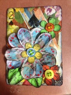 PIN TO SAVE   MOTHERS DAY mixed media lovely little buttons x