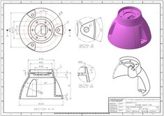 3D MODELING PRACTICE 709(CATIA) | 3D CAD Model Library | GrabCAD Mechanical Engineering Design, Mechanical Design, Autocad, Solidworks Tutorial, 3d Cad Models, Drawing Exercises, Mould Design, 3d Drawings, Drawing Practice