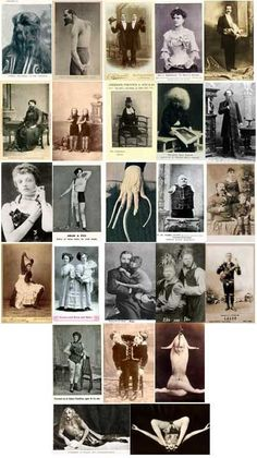 "Vintage ""Circus Freak Show Oddities"""