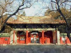 New print available on lanjee-chee.artistwebsites.com! - 'Confucius Temple In Beijing' by Lanjee Chee - http://lanjee-chee.artistwebsites.com/featured/confucius-temple-in-beijing-lanjee-chee.html