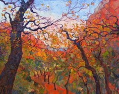 Autumn Tapestries Painting by Erin Hanson