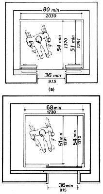 Minimum Internal Elevator Dimensions For One Wheelchair