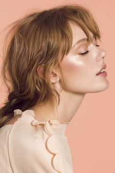 """""""It's Glow Time!"""" Frida Gustavsson by Olivia Frolich for Marie Claire UK May 2017. Stylist: Sophie Qureshi Makeup: Marie Thomsen Hair: Anna Cofone"""