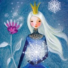 Winter queen artist Illustration by www.MilaMarquis.com and www.Facebook.com/MilaMarquisillustration