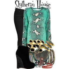 Slytherin House Inspired Harry Potter Fashion