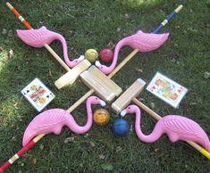 flamingo croquet, like Alice in Wonderland.....its so cute!!!