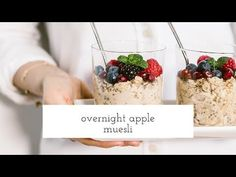 A vegan and gluten-free Overnight Apple Muesli recipe that you can prepare in 10 minutes, keep it in the fridge and have a bowl of goodness in the morning.