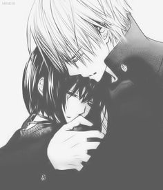 Image about black and white in Manga. Manga Love, Anime Love, Awesome Anime, Manga Art, Manga Anime, Yuki And Zero, Matsuri Hino, Vampire Knight Zero, Zero Kiryu
