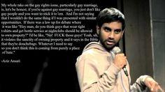 aziz on gay marriage