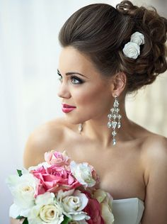 32 Prettiest Wedding Hairstyles - MODwedding Pretty wedding updo from Mod Wedding Best Wedding Hairstyles, Bride Hairstyles, Hairstyles 2018, Mod Wedding, Wedding Updo, Wedding 2015, Elegant Wedding, Trendy Wedding, Perfect Wedding