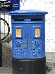 Pale Blue E2 Postbox