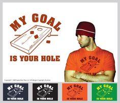 Cornhole shirt Vinyl Fabric, Cornhole, Goals, Baseball Cards, Funny, Shirt, Crafts, Manualidades, Dress Shirt