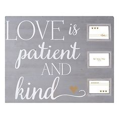 "Belle Maison ""Love Is Patient And Kind"" 4"" x 6"" Collage Frame"