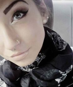 nose rings and makeup! But it looks so weird with a nose ring AND a naval piercing