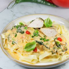 Pomysł na obiad | AniaGotuje.pl Coleslaw, Penne, Cheddar, Camembert Cheese, Spaghetti, Chicken, Meat, Ethnic Recipes, Food