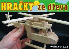 Hračky ze dřeva civilní vrtulník