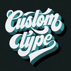 Custom Type by @jeremie_nallet - typography & lettering design love ❤️ - typostrate - typostrate.com