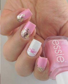 блеск, маникюр, ногти, розовый
