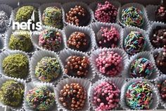 150 kişinin defterindeki b. How to make Chocolate Practical Truffle Recipe? Here is a description of this recipe in the book of 150 people and the pho Truffle Recipe, How To Make Chocolate, Confectionery, Toffee, Truffles, Blackberry, Donuts, Fruit, Sweet