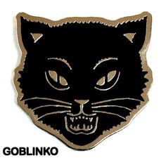 CAT FACE ENAMEL PIN – GOBLINKO MEGAMALL