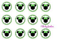 St. Patrick's Day Minnie Mouse bottlecap images   Pop Cap ...