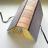 Papiernictvo - Hrubý zápisník A5 s koženým chrbtom - royal (silver) - 8348133_